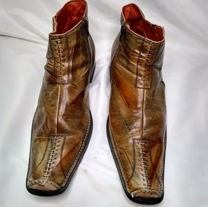 Robert Wayne Leather Ankle Boots 12